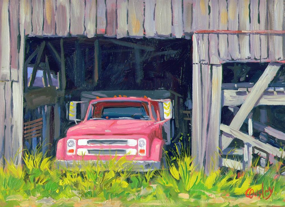 """""""Work Truck (old pickup truck painting)"""" original fine art by Chris Ousley"""