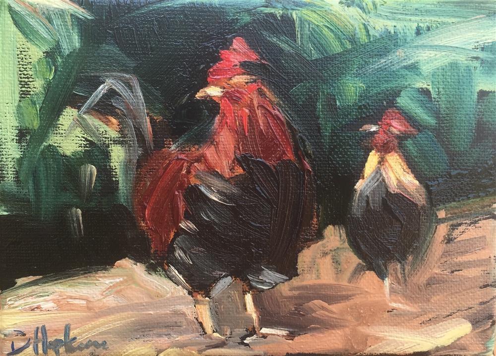 """Follow Me"" original fine art by Denise Hopkins"