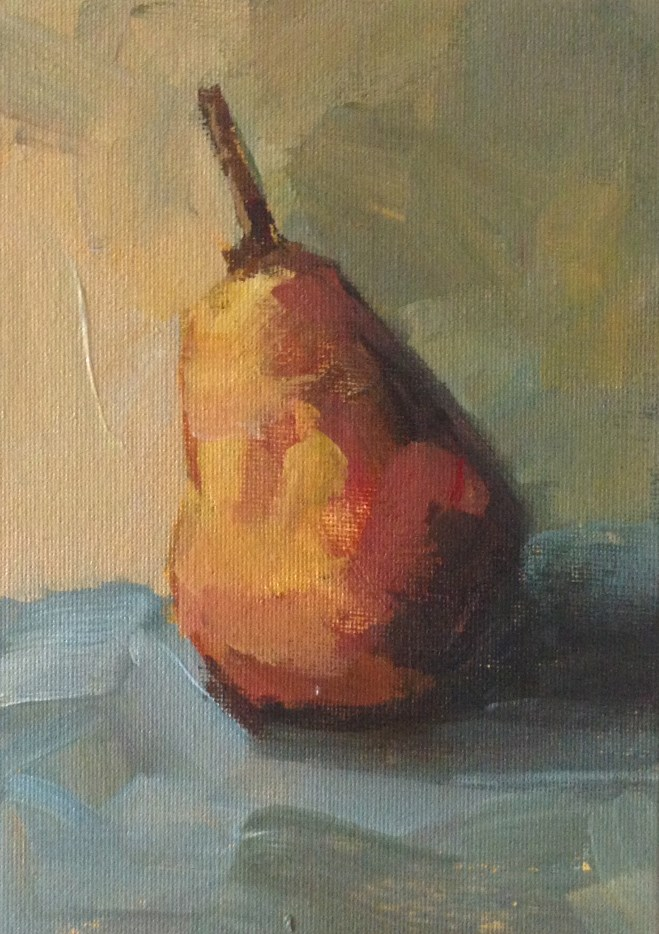 """Warm Pear"" original fine art by Shannon Bauer"