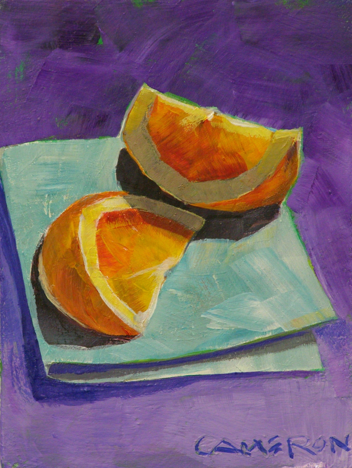 """TWO SLICES"" original fine art by Brian Cameron"