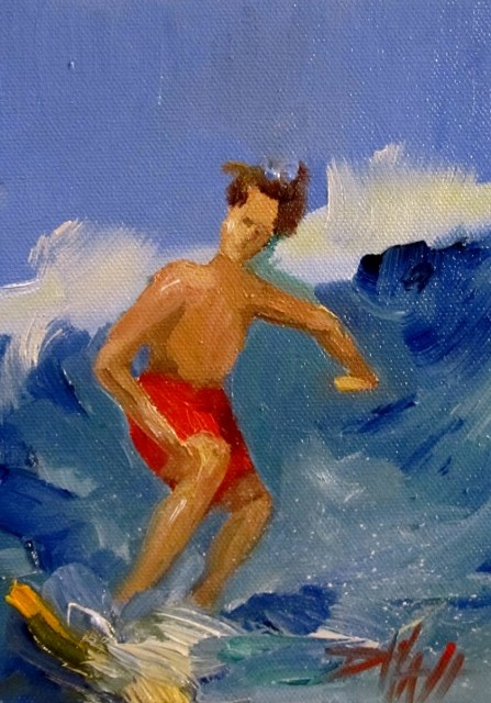 """Surfs Up"" original fine art by Delilah Smith"