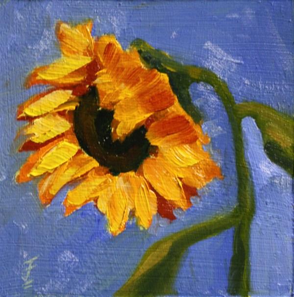 """Sunny Flower"" original fine art by Jane Frederick"
