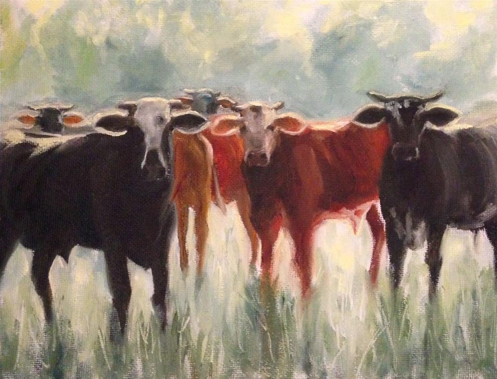 """Cows -  DPW Challenge"" original fine art by Beth Moreau"