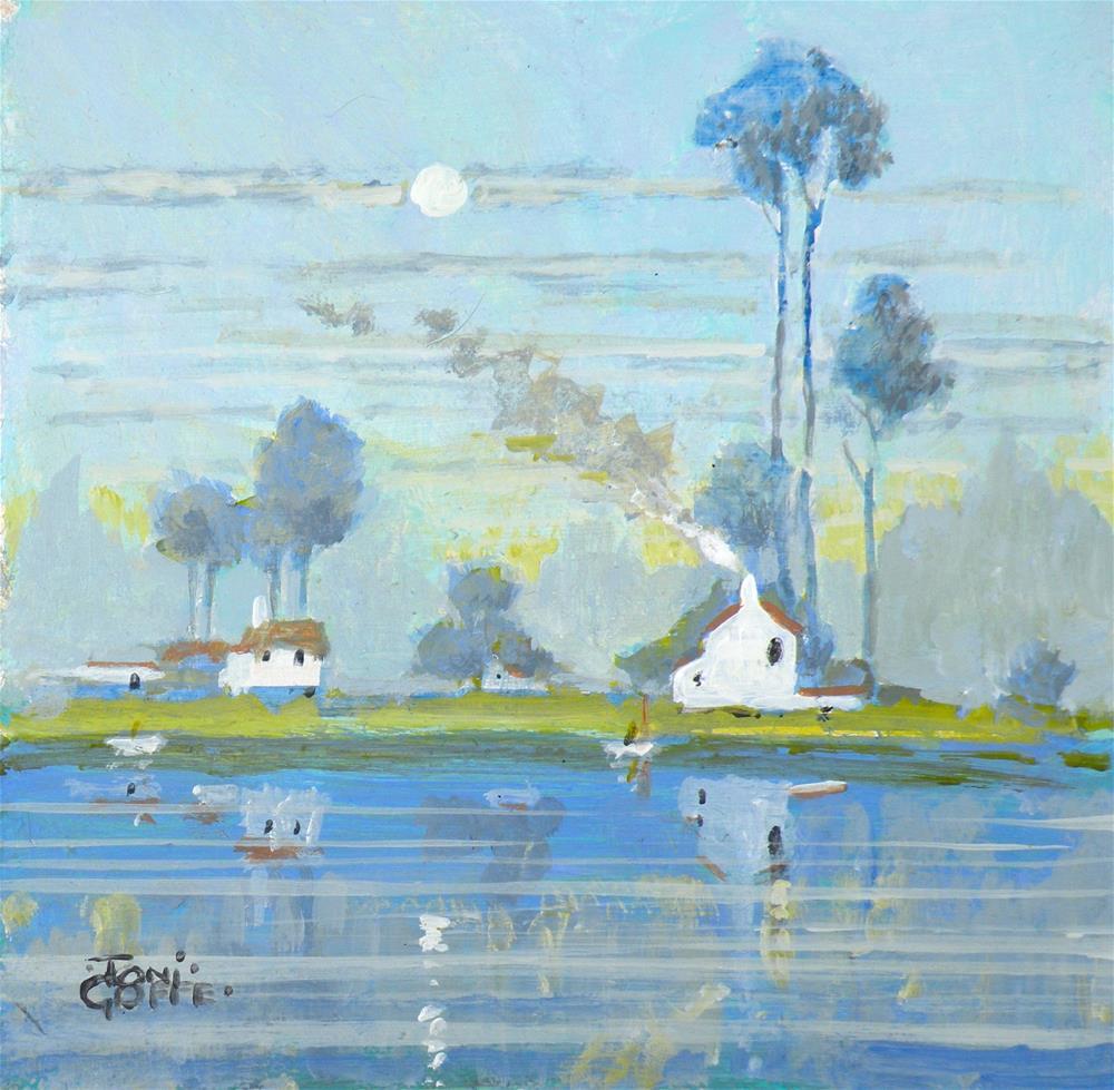 """Summer Coal Fire"" original fine art by Toni Goffe"