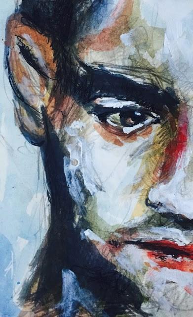 """MYSTERIOUS MAN"" original fine art by Ferran Llagostera"