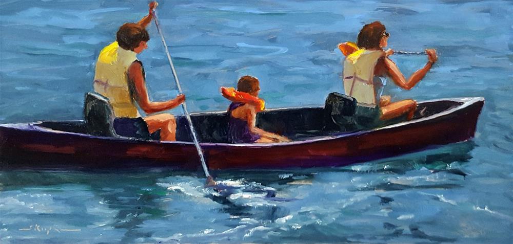 """""""Three in a Canoe"""" original fine art by Shelley Koopmann"""