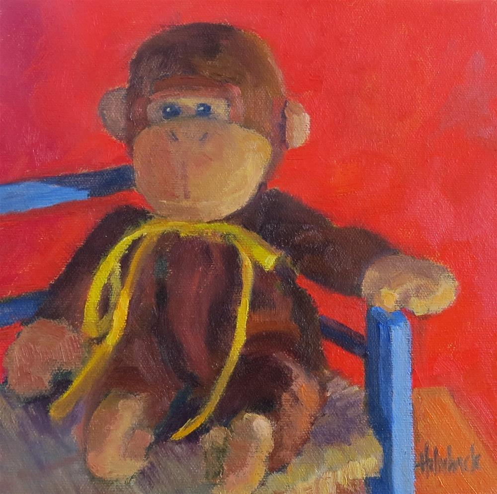 """Little Monkey"" original fine art by Pam Holnback"