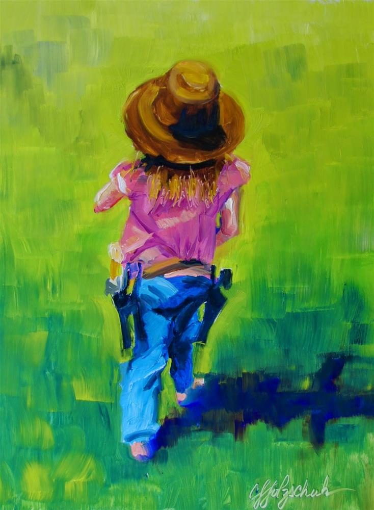 """Cowgirl On a Mission"" original fine art by Christine Holzschuh"