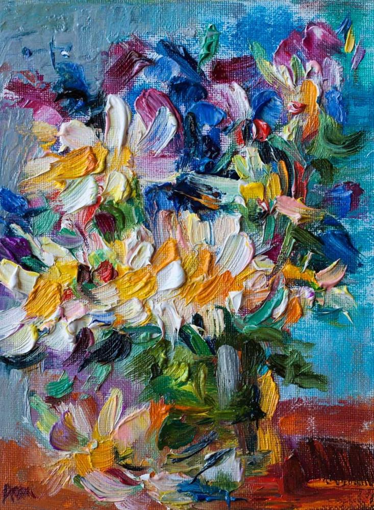 """Spring Flowers"" original fine art by Anna  Fine Art"