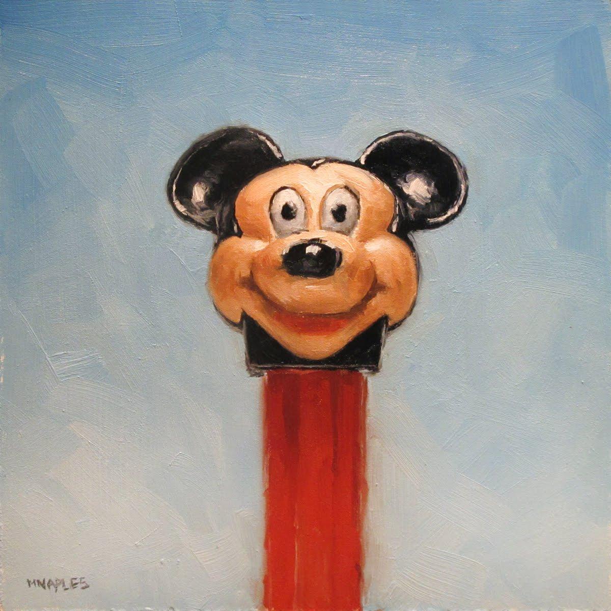 """Pez Mickey"" original fine art by Michael Naples"