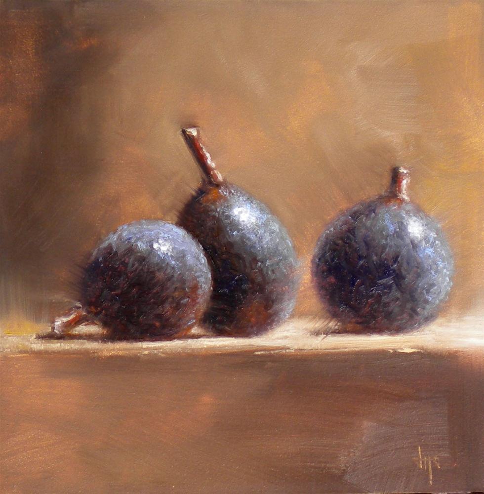 """""""Three Little Figs"""" original fine art by Darla McDowell"""