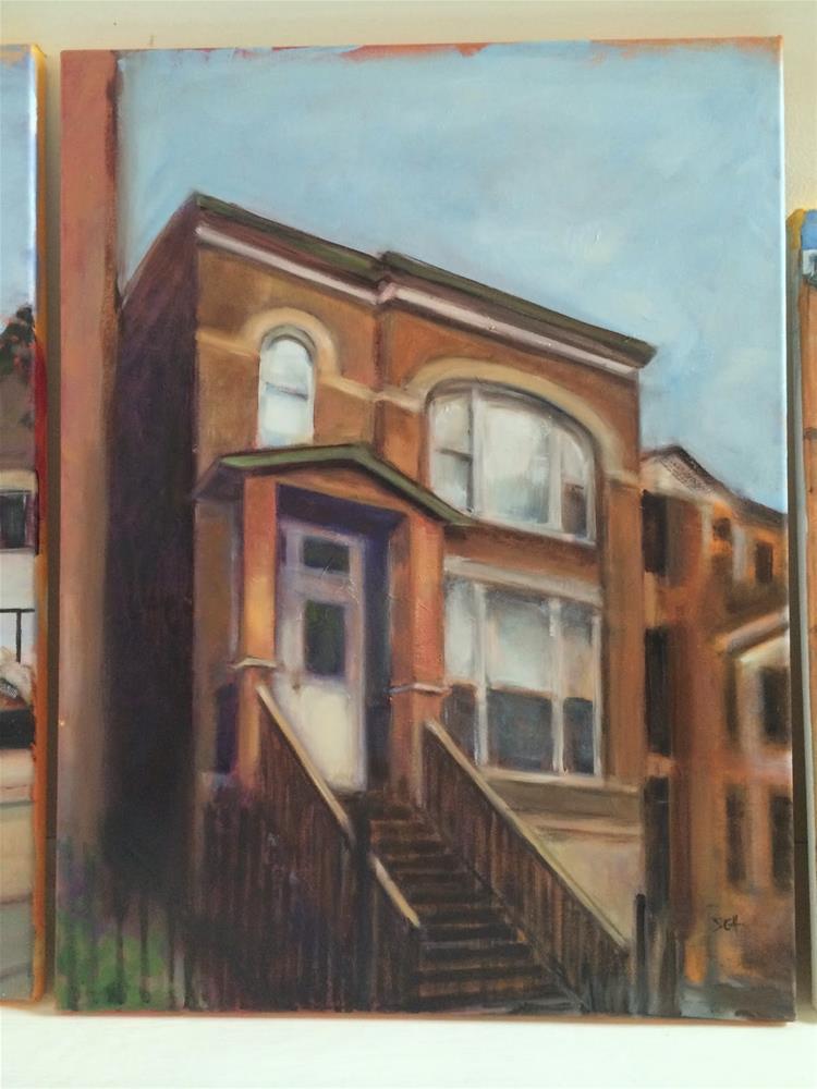 """""""Jason's home in Chicago"""" original fine art by Sandy Haynes"""