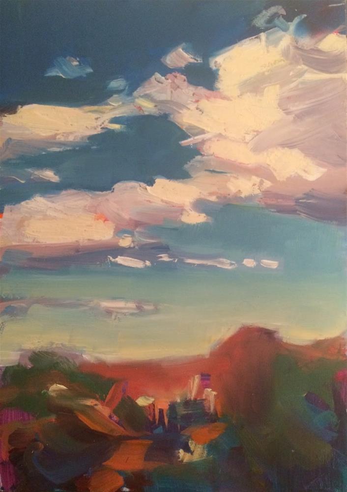 """ DRIFTING "" original fine art by Doug Carter"