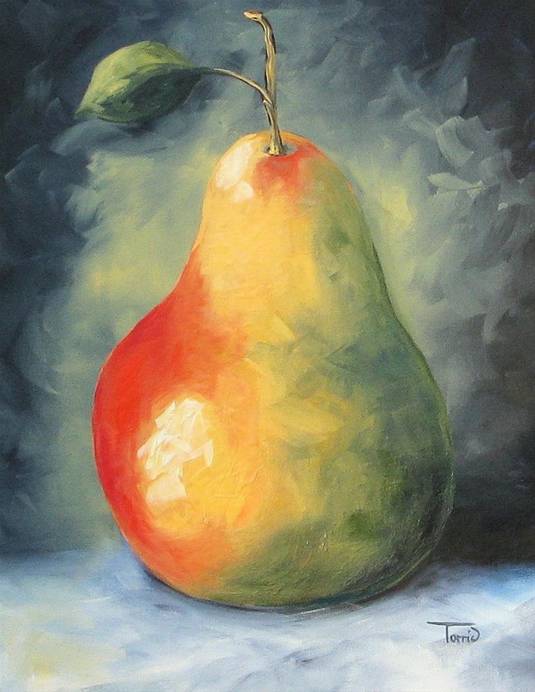 """My Favorite Pear"" original fine art by Torrie Smiley"