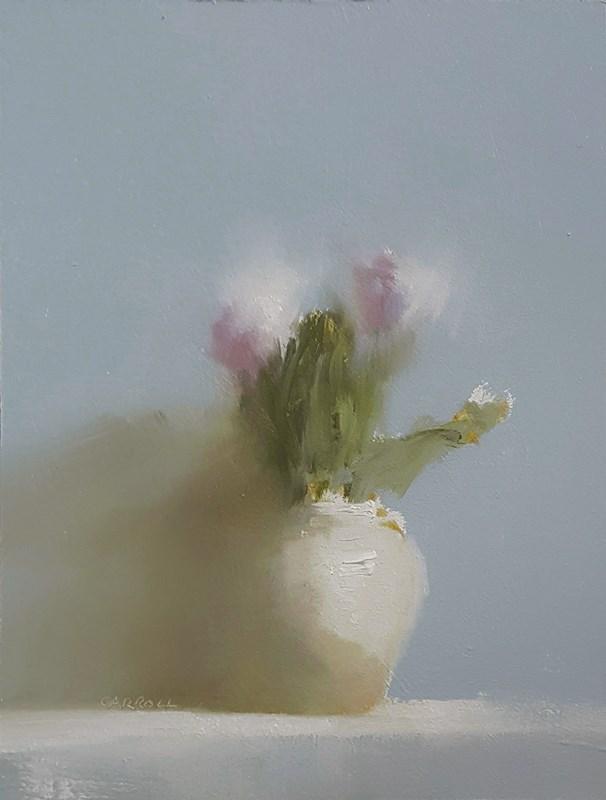 """Vase with Purple Flowers"" original fine art by Neil Carroll"