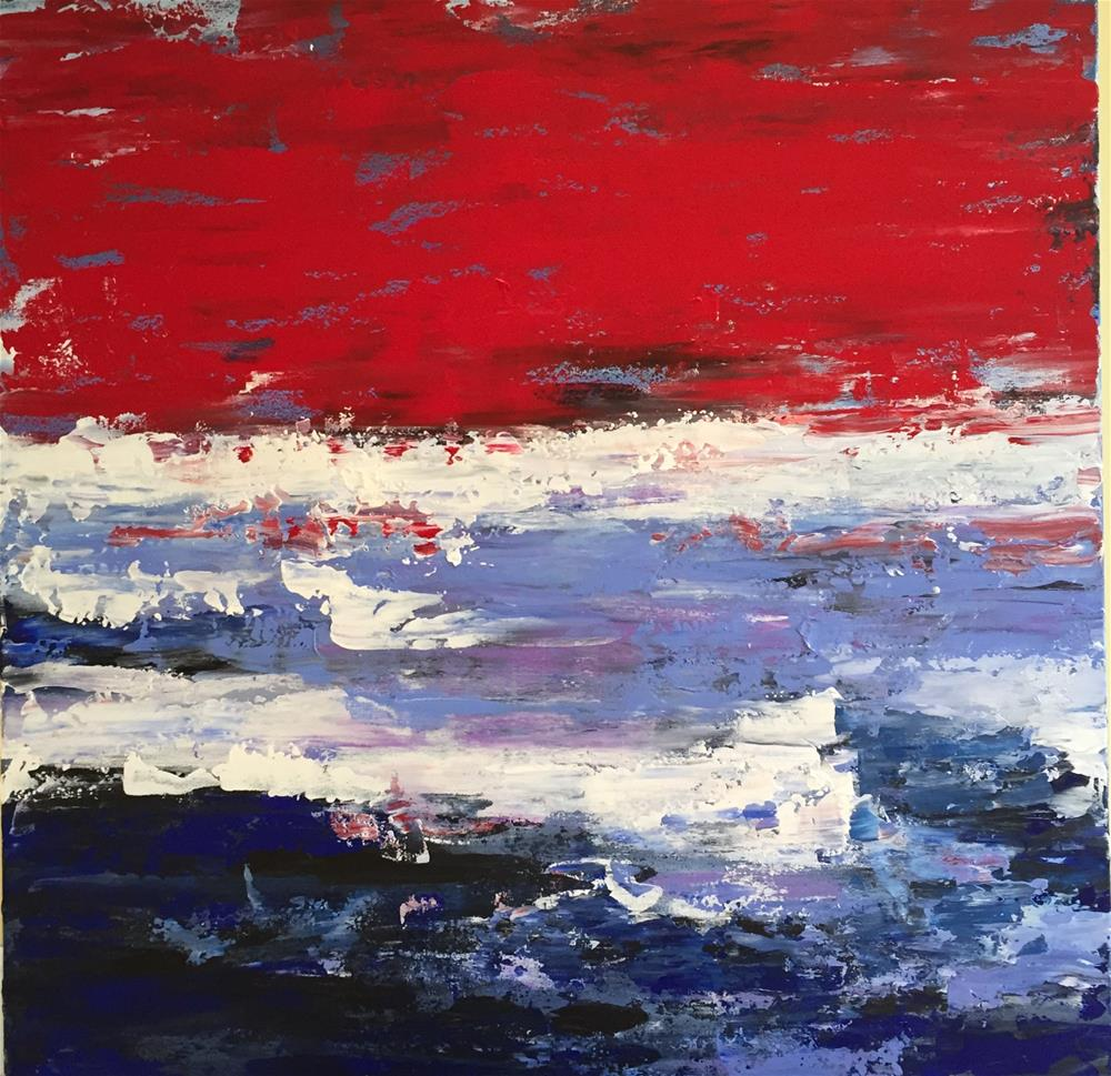 """Old Glory"" original fine art by Bonnie Masdeu"