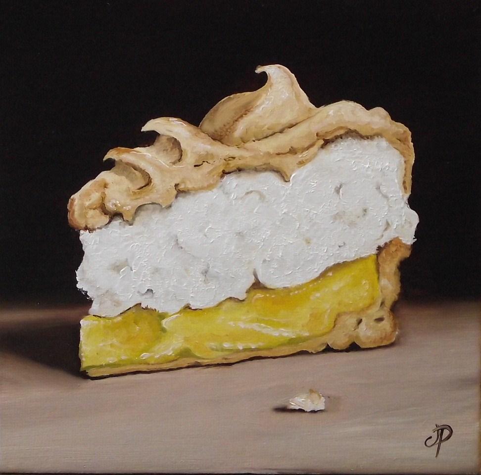 """Lemon meringue pie"" original fine art by Jane Palmer"