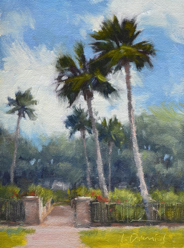 """Palm Court"" original fine art by Laurel Daniel"