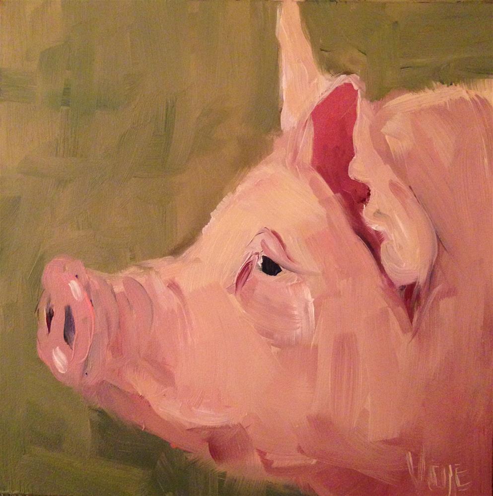 """""""#38 Pig Headed"""" original fine art by Patty Voje"""
