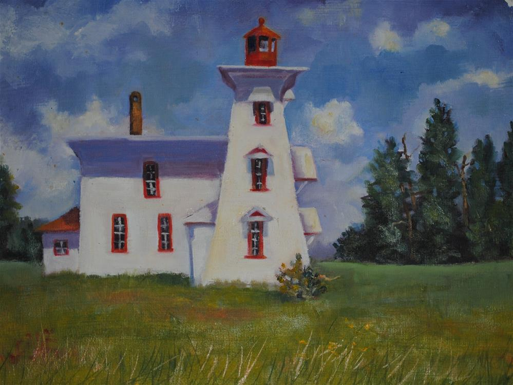 """PEI Lighthouse"" original fine art by Nan Perry"