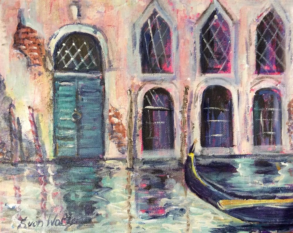 """Venetian Moment"" original fine art by Sonia von Walter"