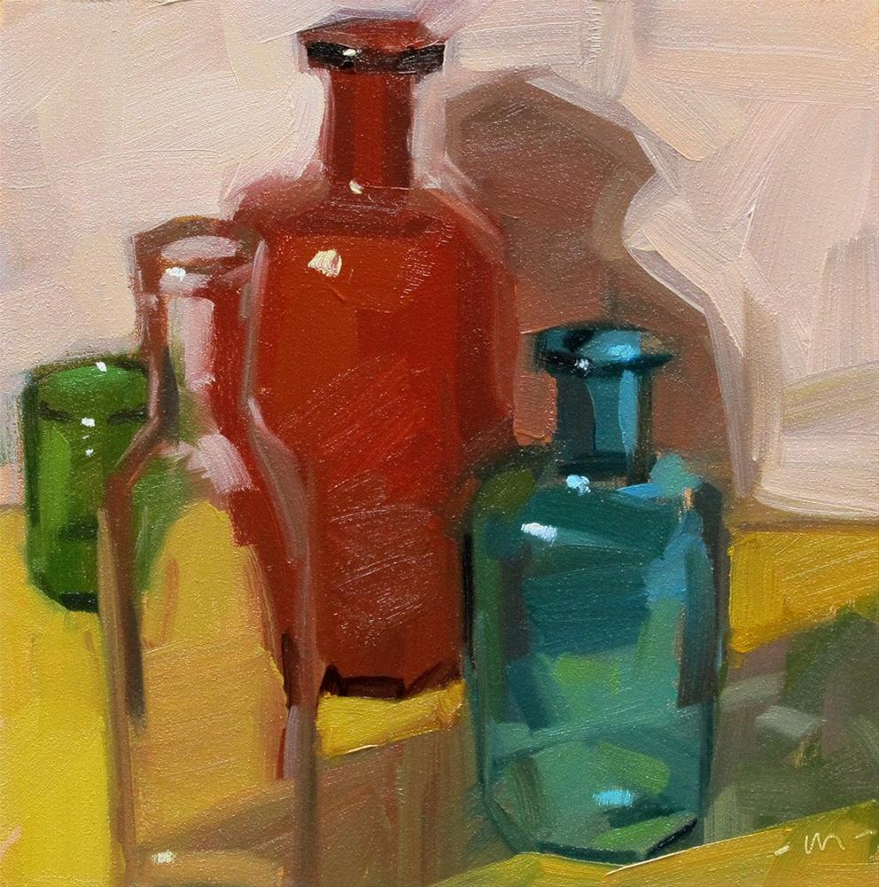 """Loose Bottles"" original fine art by Carol Marine"