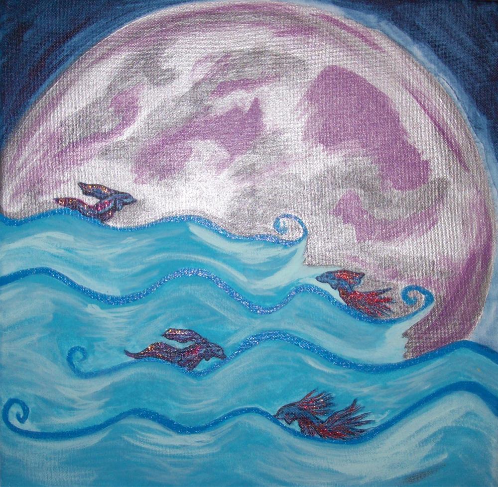 """""""Betta Moon"""" original fine art by Lanette Hastings"""