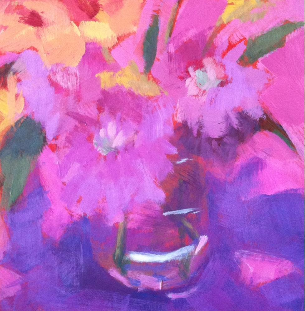 """""""Pink Bouquet"""" original fine art by Katharine March"""