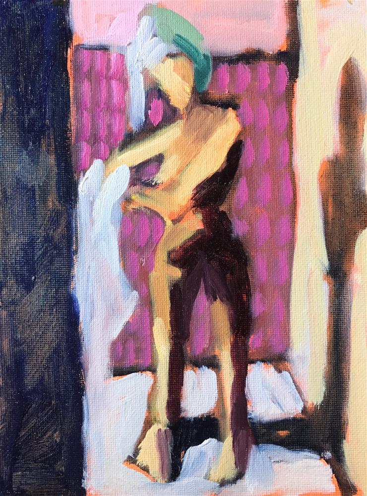 """Shower Shadows I"" original fine art by Pamela Hoffmeister"