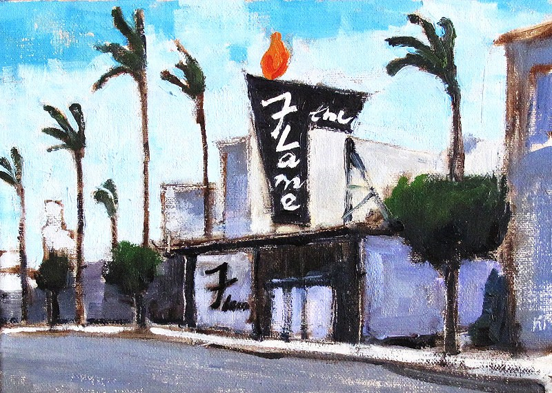 """The Flame, Hillcrest"" original fine art by Kevin Inman"