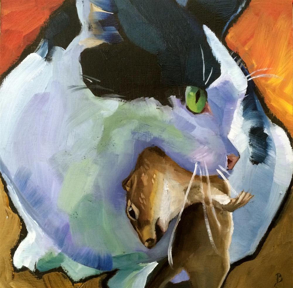 """""""Killer"""" original fine art by Philla Barkhorn"""