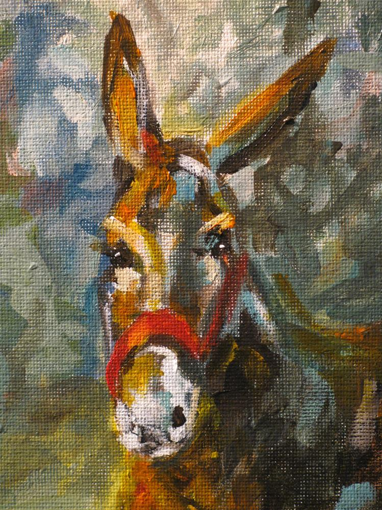 """Mule Day"" original fine art by Susan Elizabeth Jones"