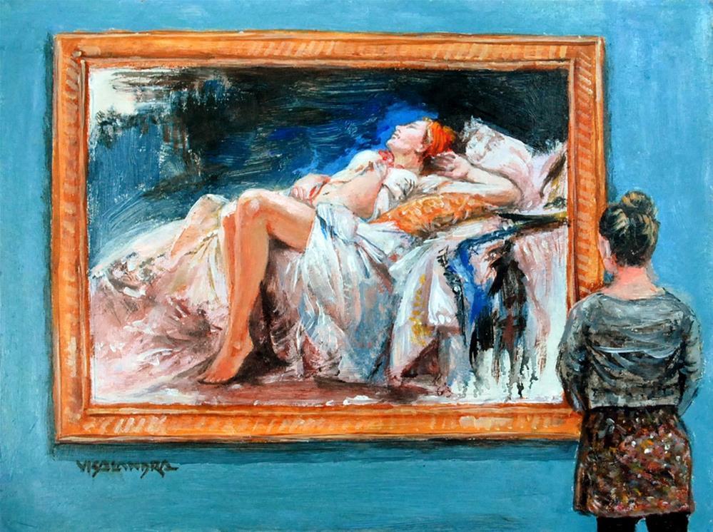 """museum visitor 4"" original fine art by vishalandra dakur"