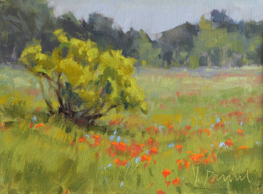 """Spring Wildflowers"" original fine art by Laurel Daniel"