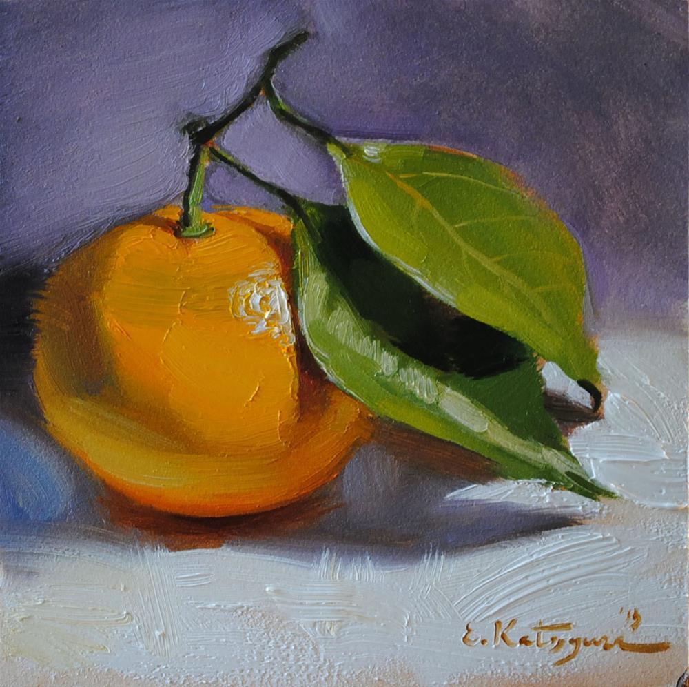 """Clementine"" original fine art by Elena Katsyura"