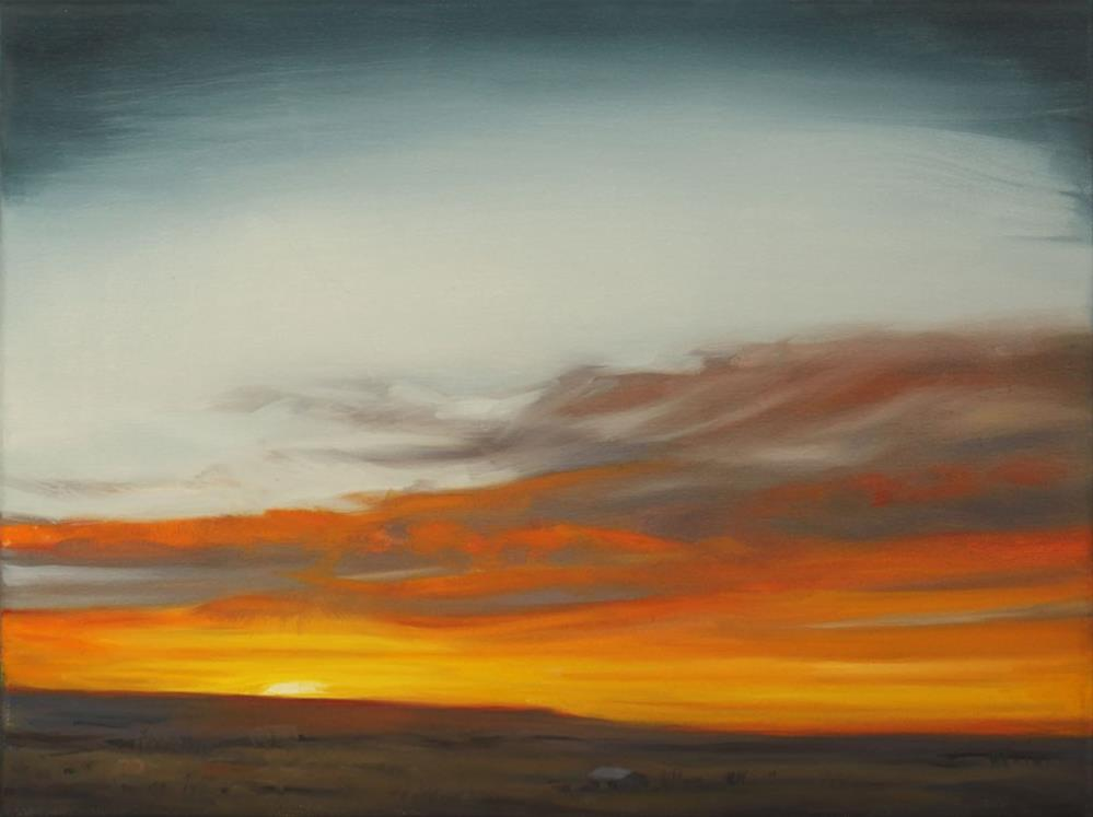 """Prairie Sunrise"" original fine art by Pamela Poll"