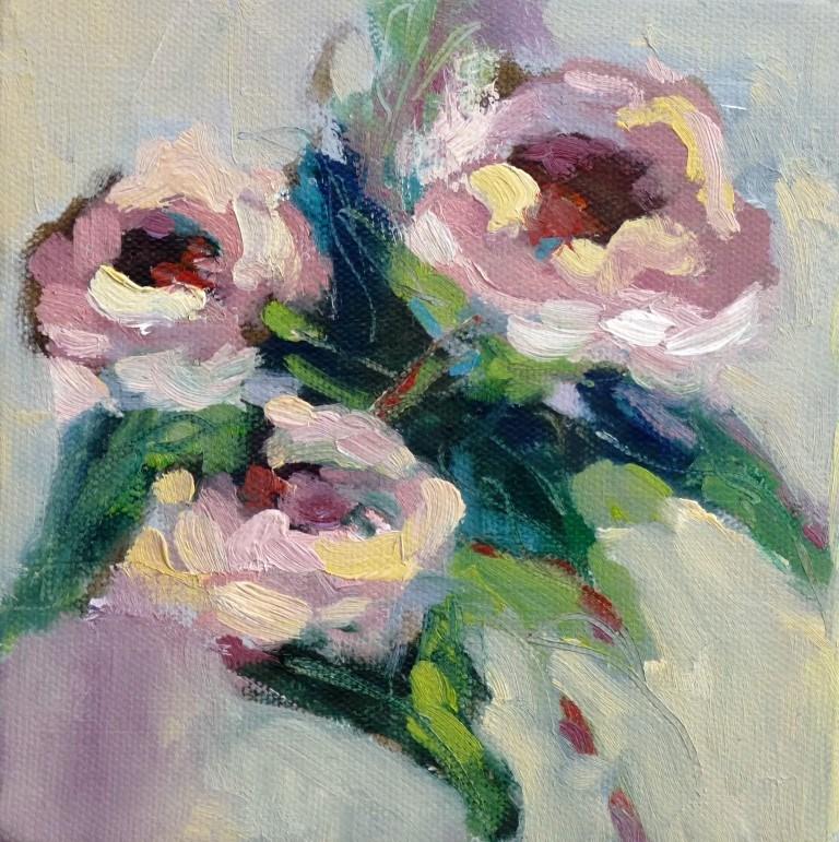 """Three Roses #3, 14035"" original fine art by Nancy Standlee"