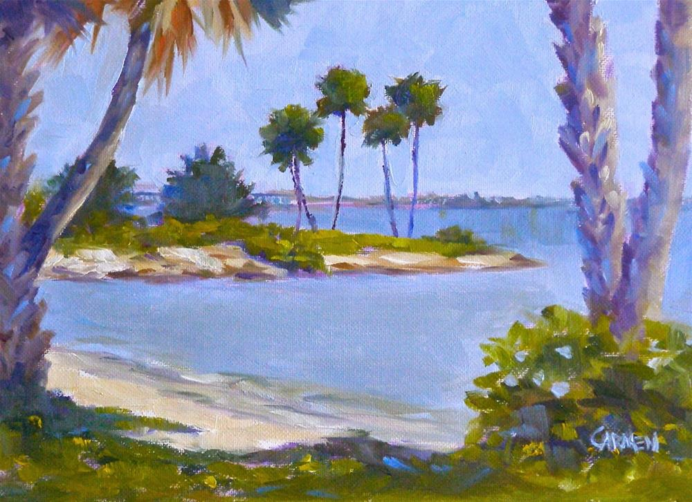 """Castaway Point, 6x8 Oil on Canvas Panel, Plein Air Painting"" original fine art by Carmen Beecher"