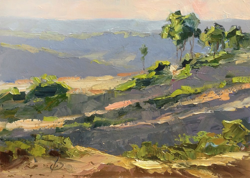 """TOP OF THE WORLD, LAGUNA"" original fine art by Tom Brown"