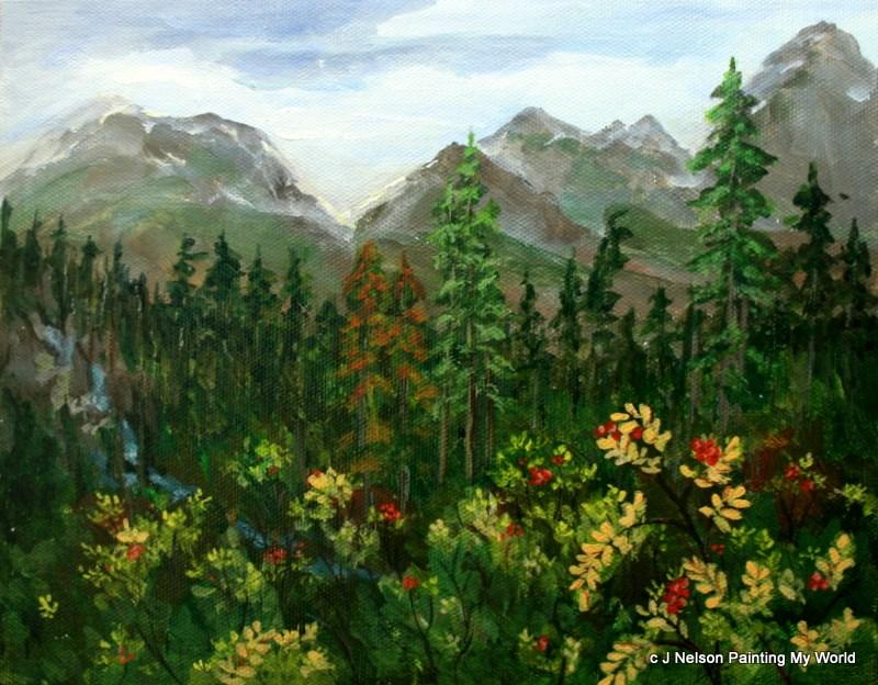 """""""Mt. Baker Wilderness"""" original fine art by Jean Nelson"""