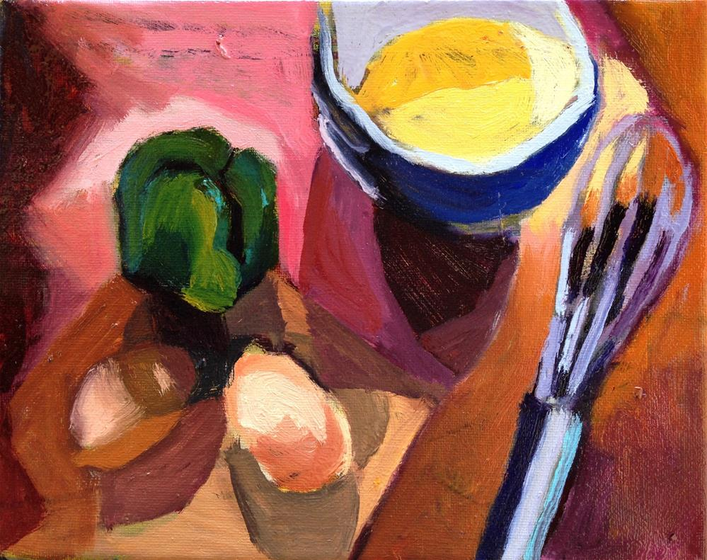 """Omelette Anyone?"" original fine art by Pamela Hoffmeister"