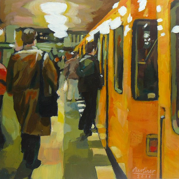 """082 Die schwarze Tasche"" original fine art by Anja Berliner"