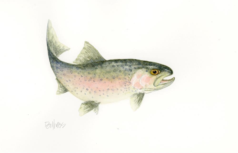 """""""It's a Trout II"""" original fine art by Susanne Billings"""