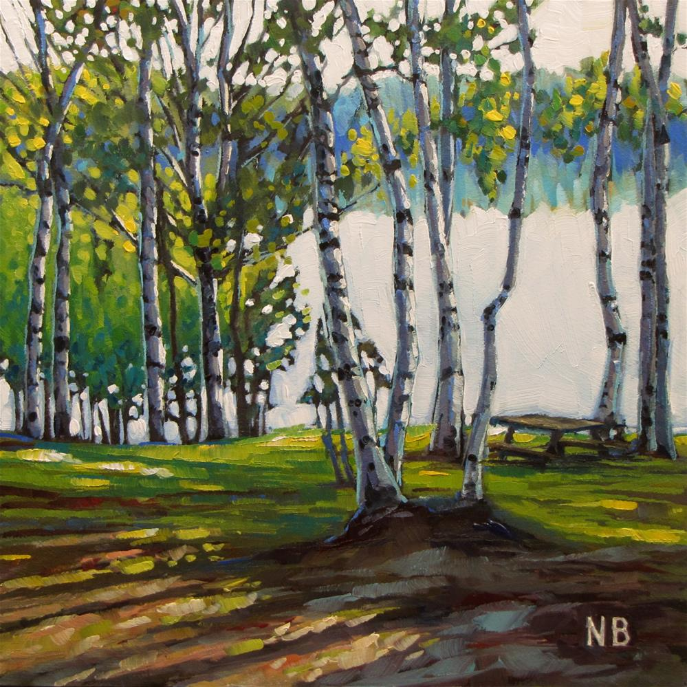"""By the Lake"" original fine art by Nora Bergman"