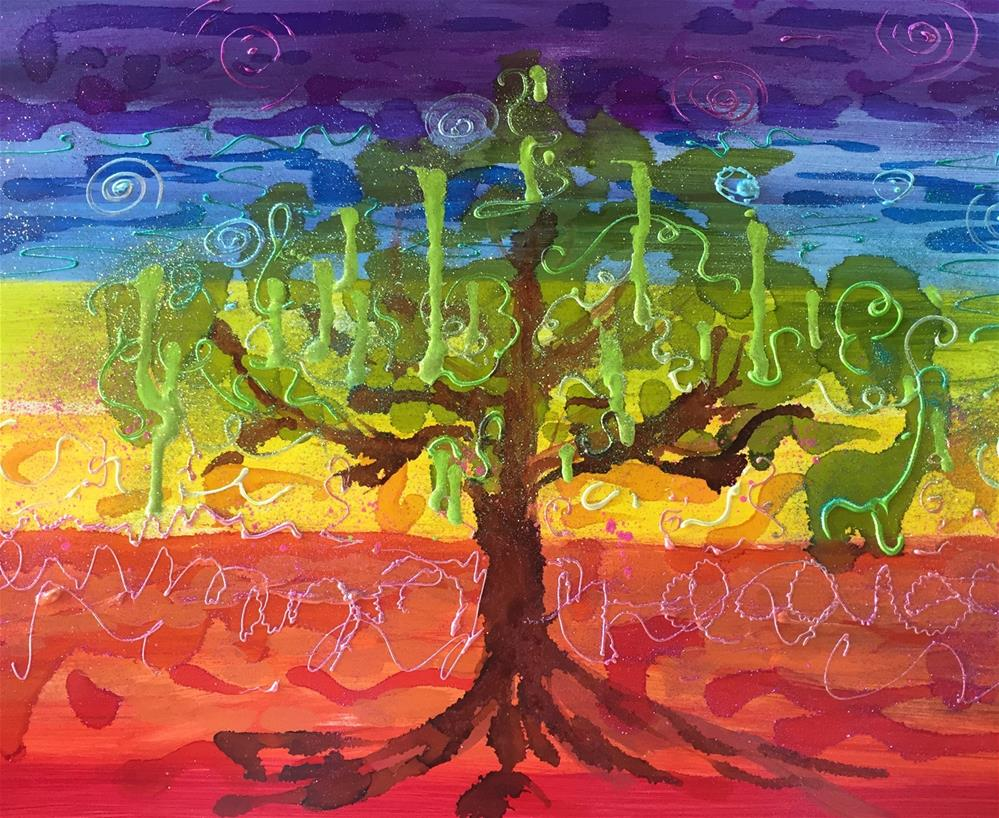 """Chakra Tree"" original fine art by Yvonne Snead"