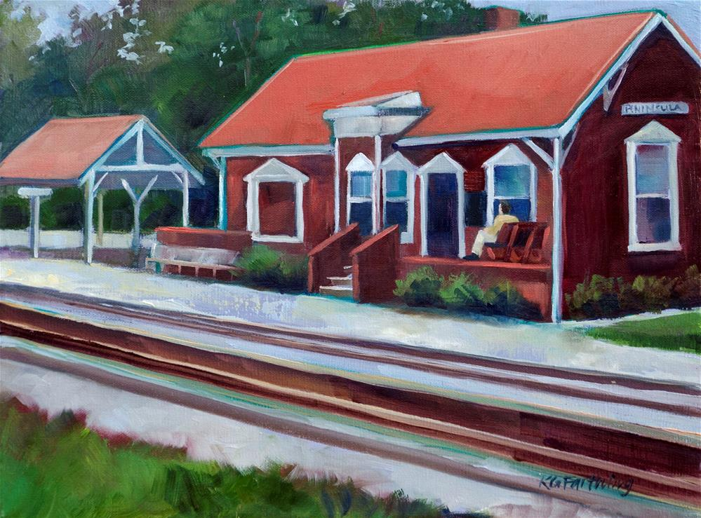 """Peninsula Depot"" original fine art by Kathleen Gray Farthing"