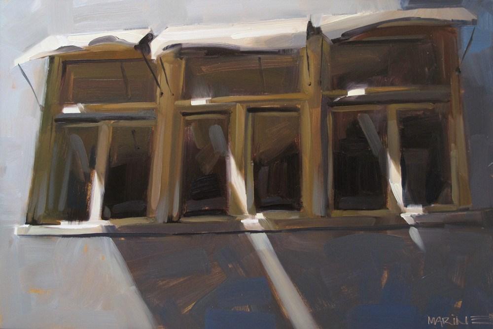 """Breezy Windows"" original fine art by Carol Marine"