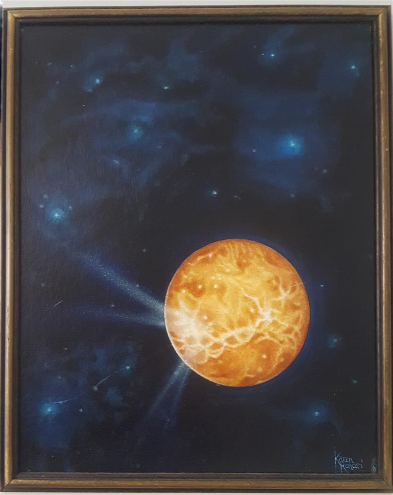 """Bright Planet"" original fine art by Karen Roncari"