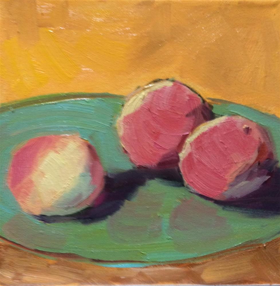 """Peaches"" original fine art by Naomi Bautista"