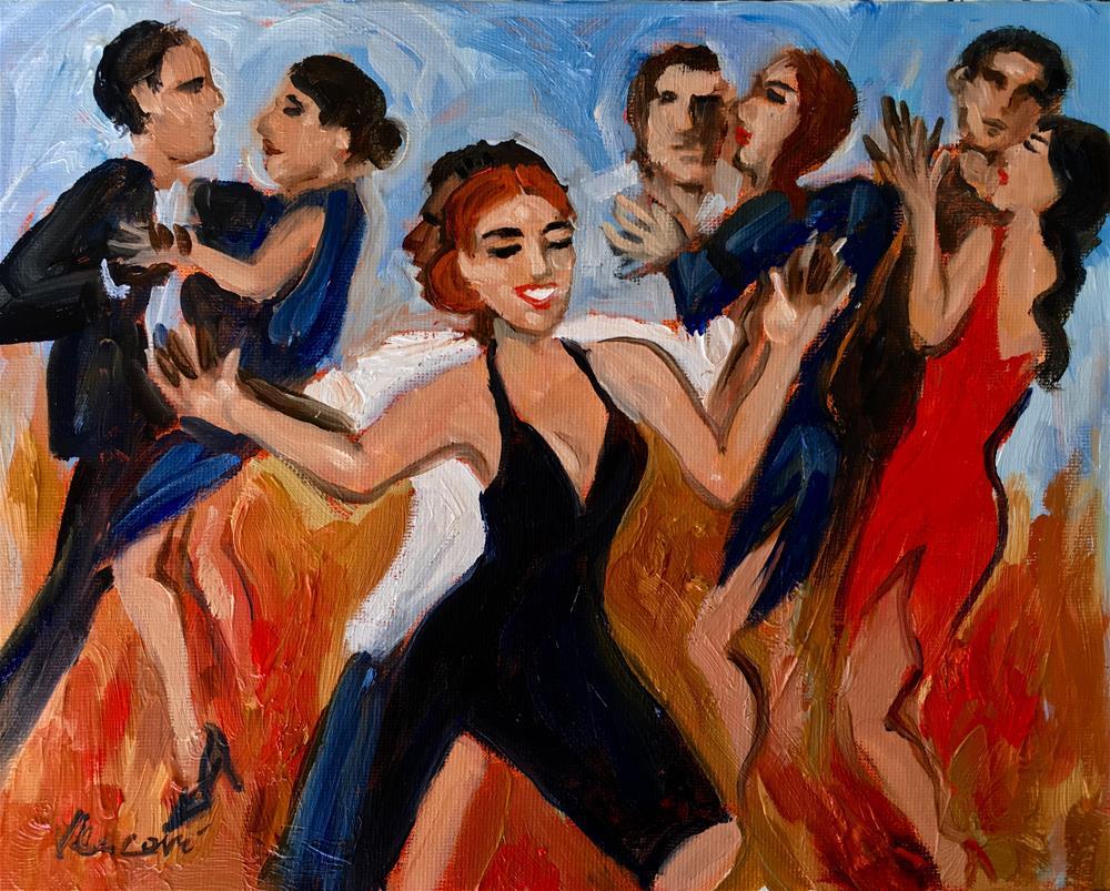"""Dansant"" original fine art by Valerie Vescovi"
